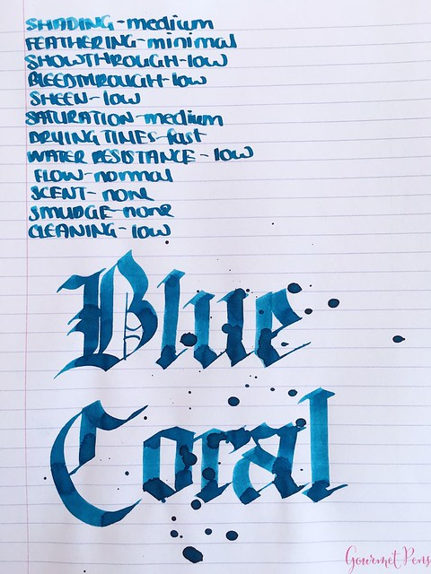 Ink Shot Review Bookbinders Blue Coral @AndersonPens 5