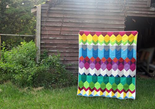 Cascade quilt designed for Angled online class
