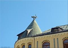 Дом с черными котами. Riga/Lettland