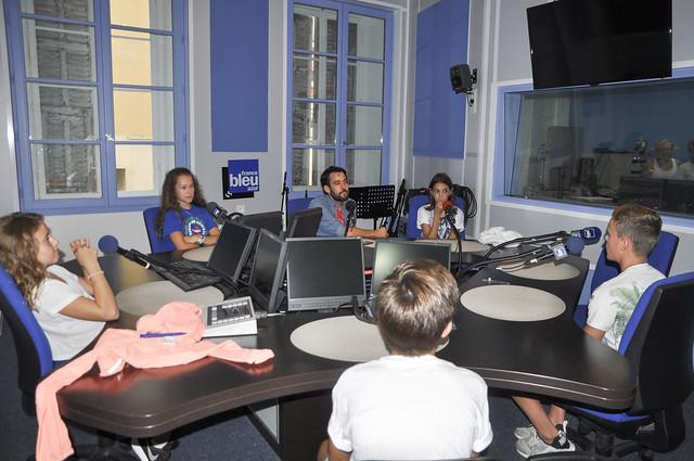 Les jeunes Biotois sur France Bleu Azur
