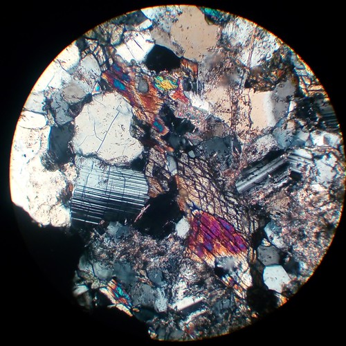 Plagioclase extinction 2 (30 µm thin section, XPL)