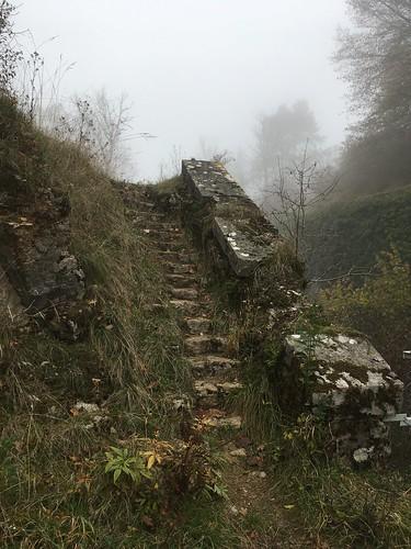 Fort de la Dame Blanche - Escalier