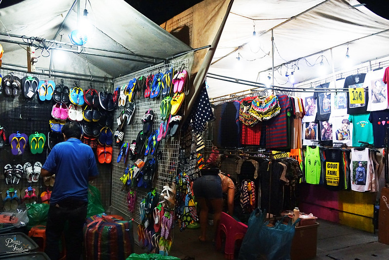 saphan phut night market shoes and shirts