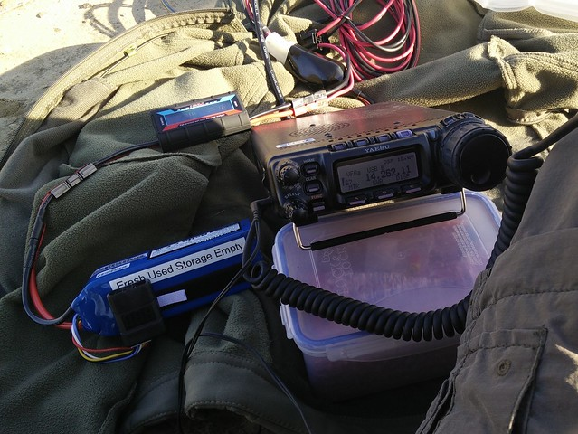 Ham radio, portable operation during CQ WW contest weekend.