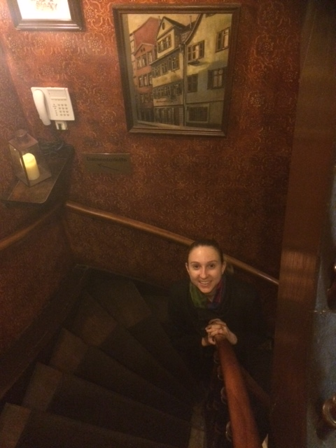 Inside the Swabian wine tavern Zur Kiste
