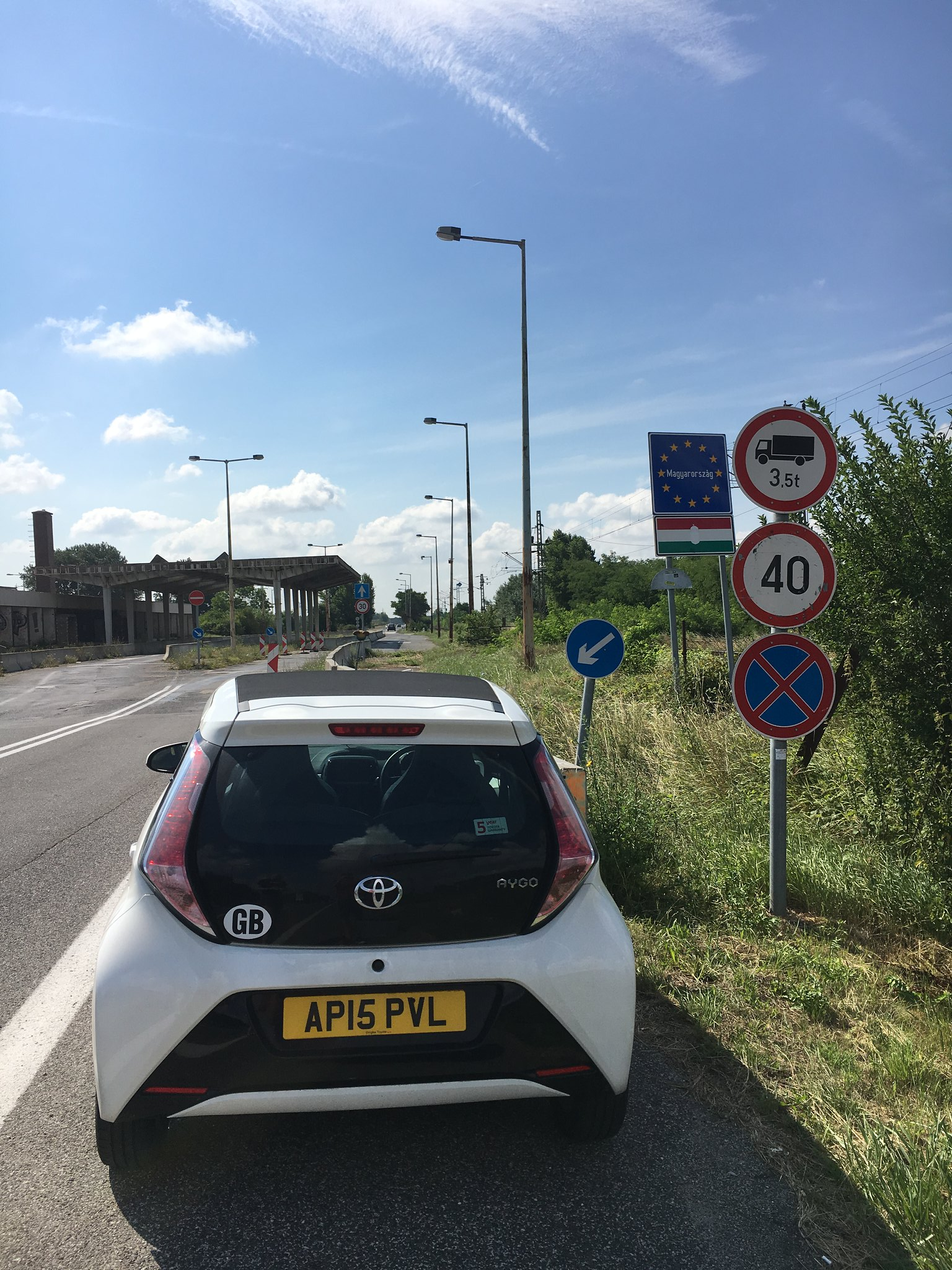 1 toyota aygo 13 countries 18 days 4500 miles page 1 we stopped at a point at which three countries meet on the way into hungary and took some pictures at the old border crossing on the road running parallel sciox Images