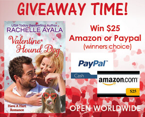 Valentine Hound Dog by Rachelle Ayala book tour giveaway