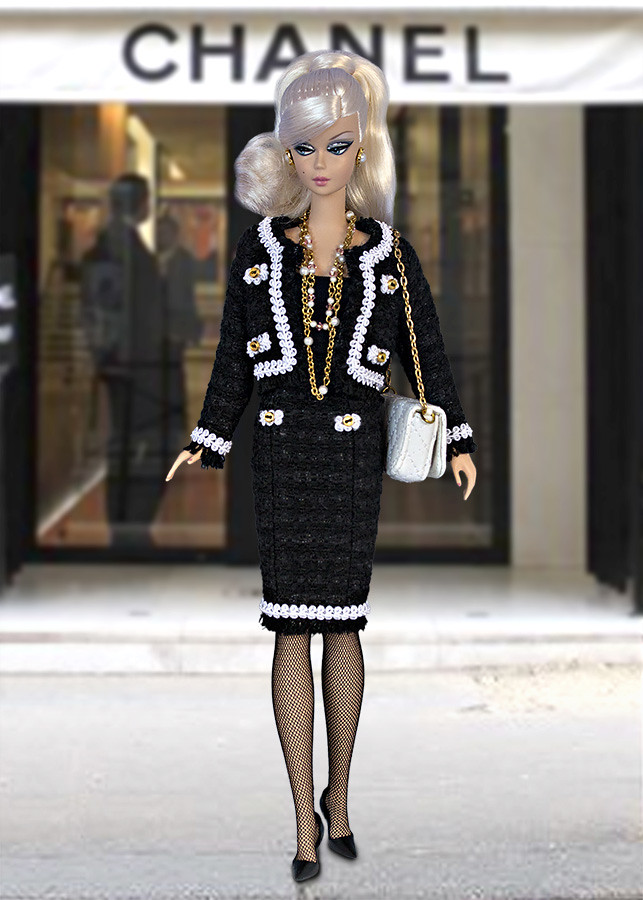 Chanel style barbie clothes