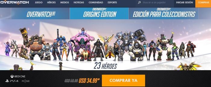 Blizzard anuncia descuento del 40% para Overwatch durante Black Friday