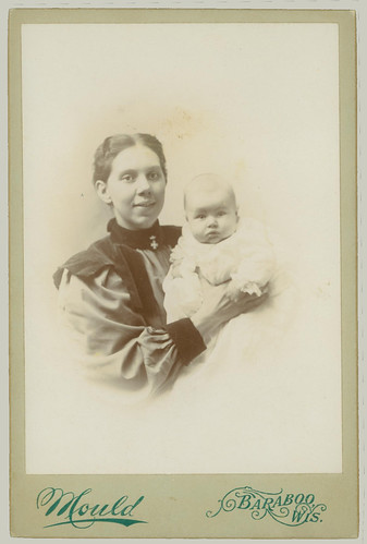 Cabinet Card woman and baby