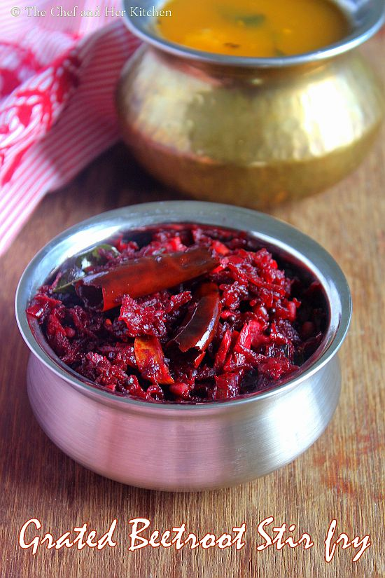 grated beetroot stir fry