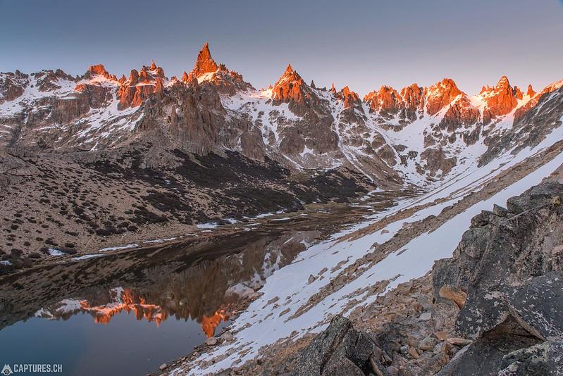 Sunrise at Refugio Frey - Parque Nacional Nahuel Huapi