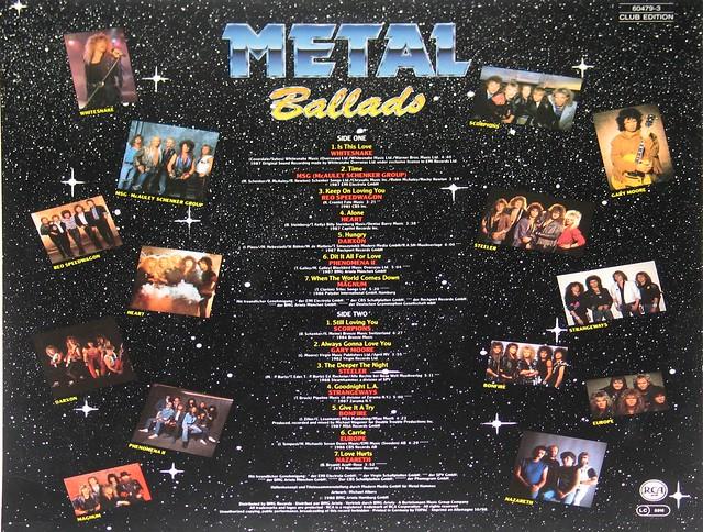 "Metal Ballads RCA Club Edition 12"" vinyl LP"