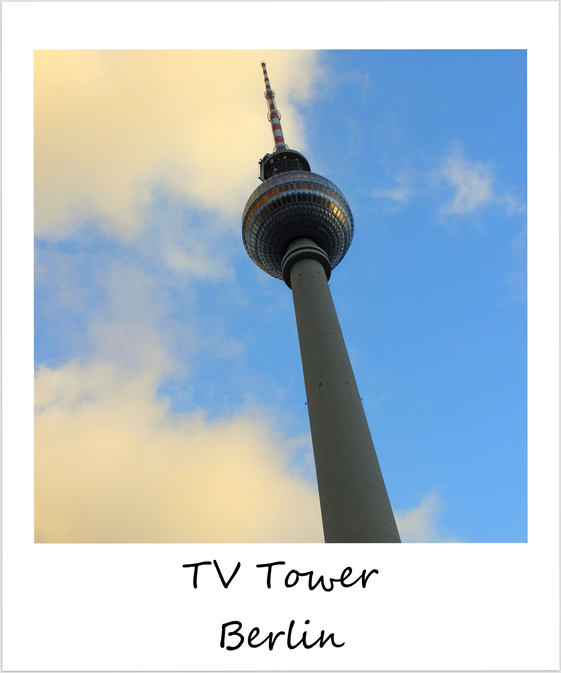 polaroid of the week germany berlin TV Tower