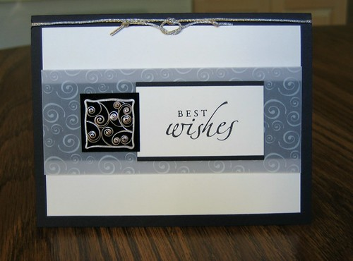 Quilled Best Wishes Card