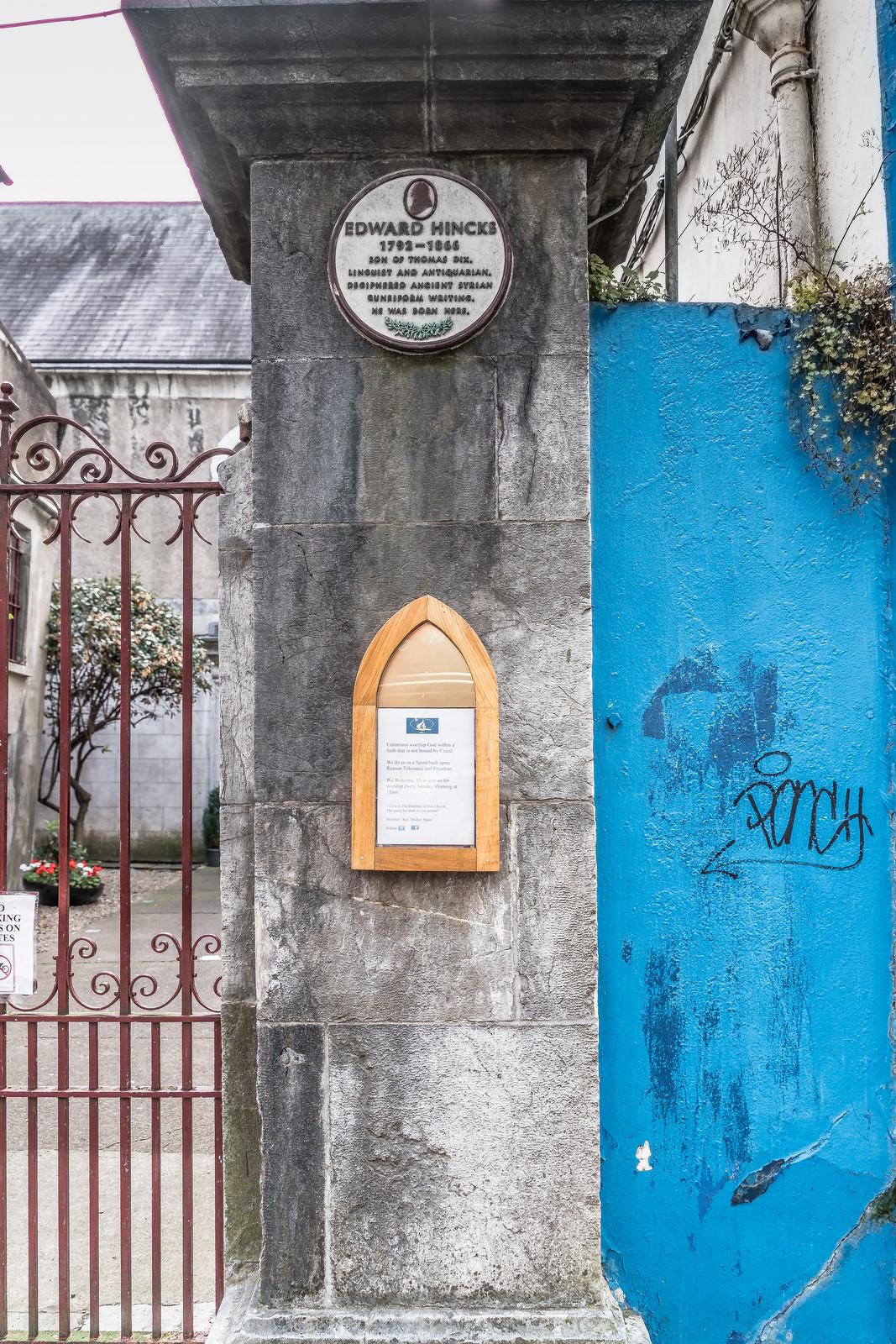PLAQUE ON PRINCE'S STREET OUTSIDE UNITARIAN CHURCH BESIDE STARBUCKS [EDWARD HINCKS]-122674