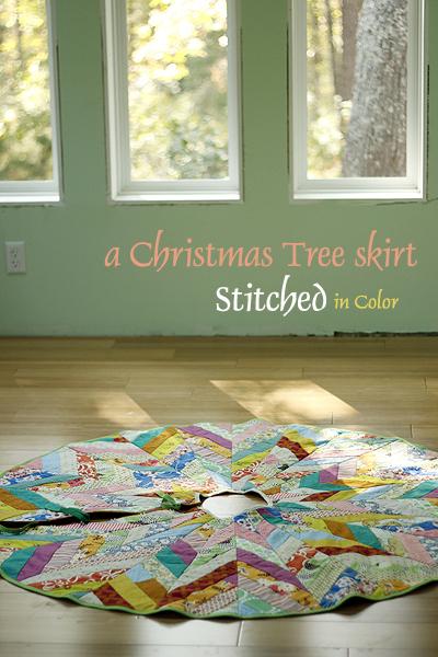 Ziggy Round Christmas tree skirt