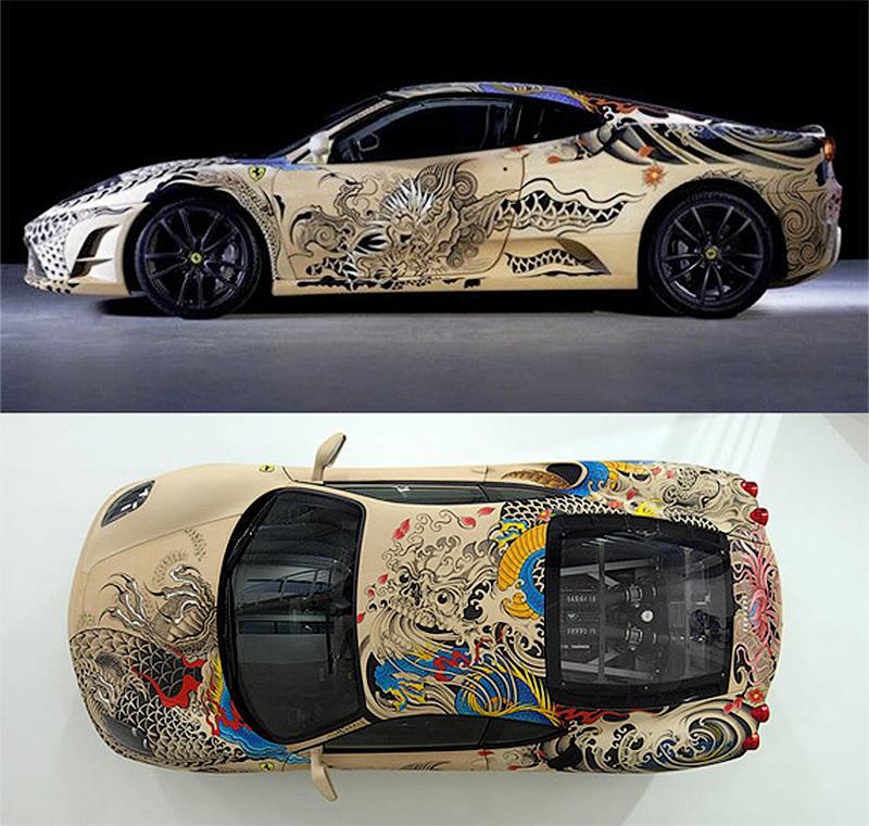 Кожаная Ferrari с татуировками якудзы - ПоЗиТиФфЧиК - сайт позитивного настроения!