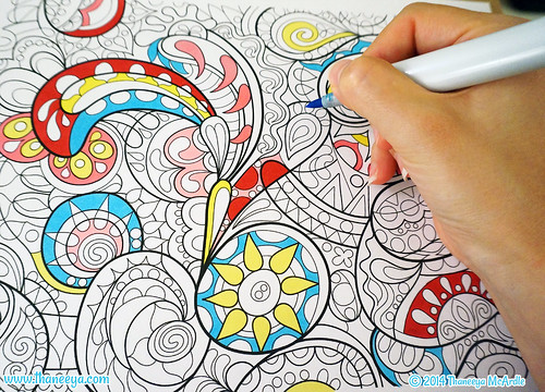 Groovy Abstract Coloring Pages : Groovy abstract coloring page by thaneeya mcardle flickr