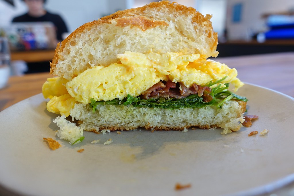 Bacon, Egg & Cheese Breakfast Sandwich | Supercrown Coffee Roasters | Wilson Ave | Bushwick | Brooklyn | NYC
