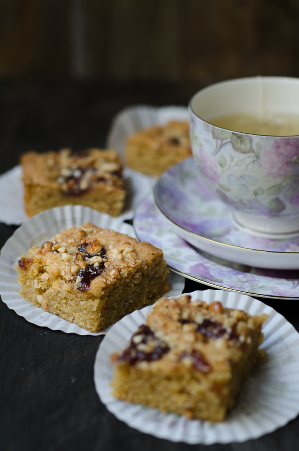 Salted Peanut Butter and Jam Blondies