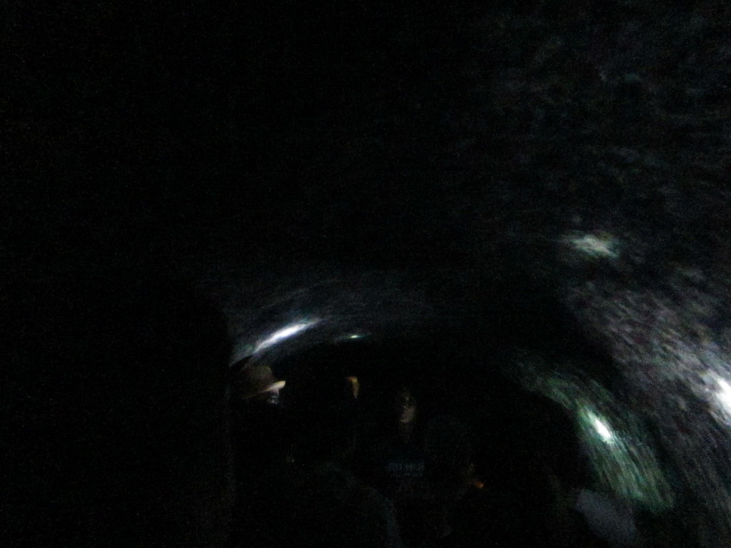 Inside one of the tunnels