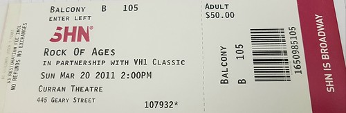 Rock of Ages (SF, 2011) Tix