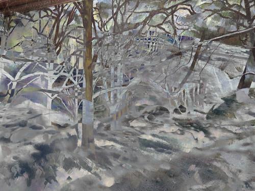 Kootneys ski trip with snow & trees 'Cezanned'
