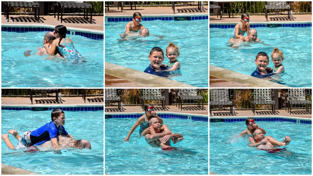 swimming with truck grandpa two