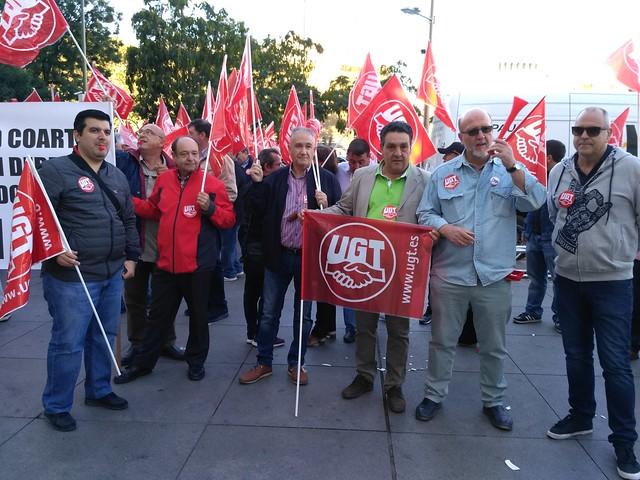 Concentración frente al Ayuntamiento de Madrid 11 de octubre 2016