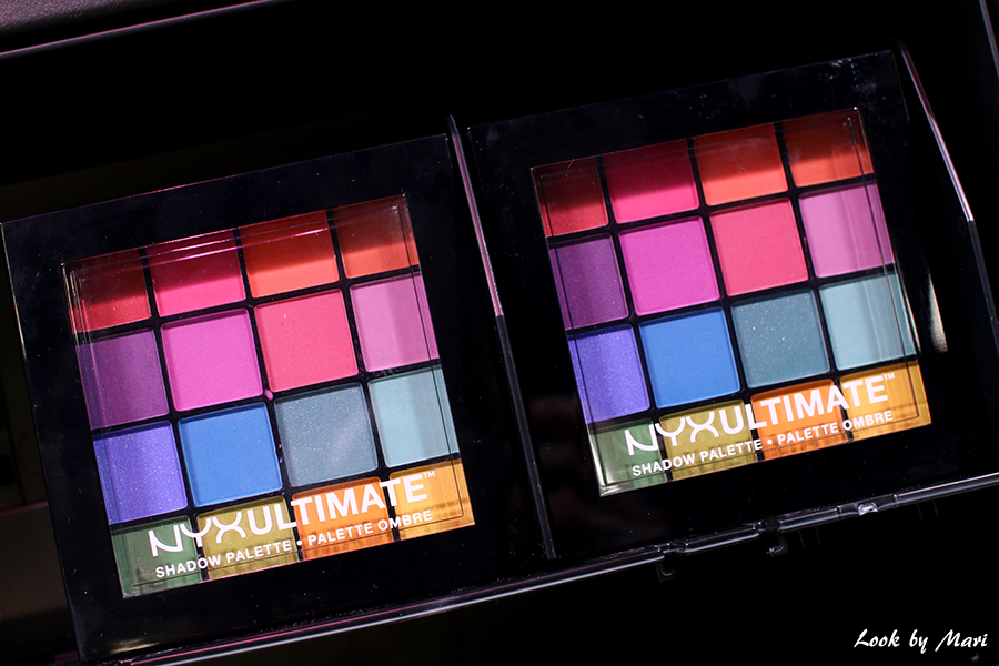 12 Nyx ultimate shadow palette I love me messut