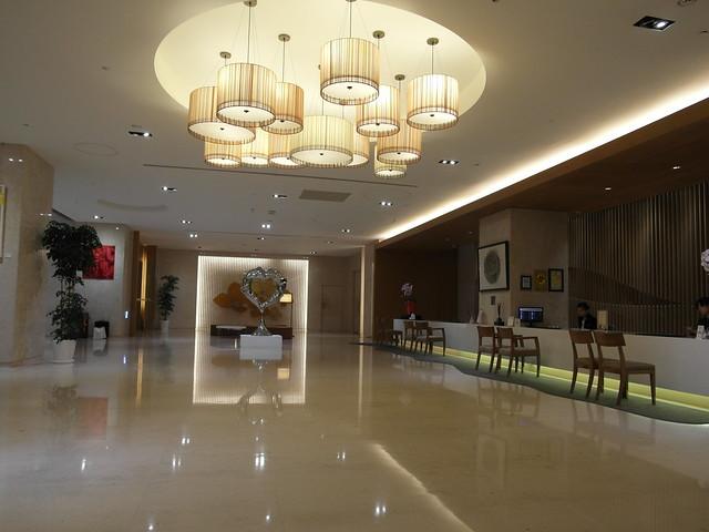 寬闊大器的大廳@台中日月千禧酒店