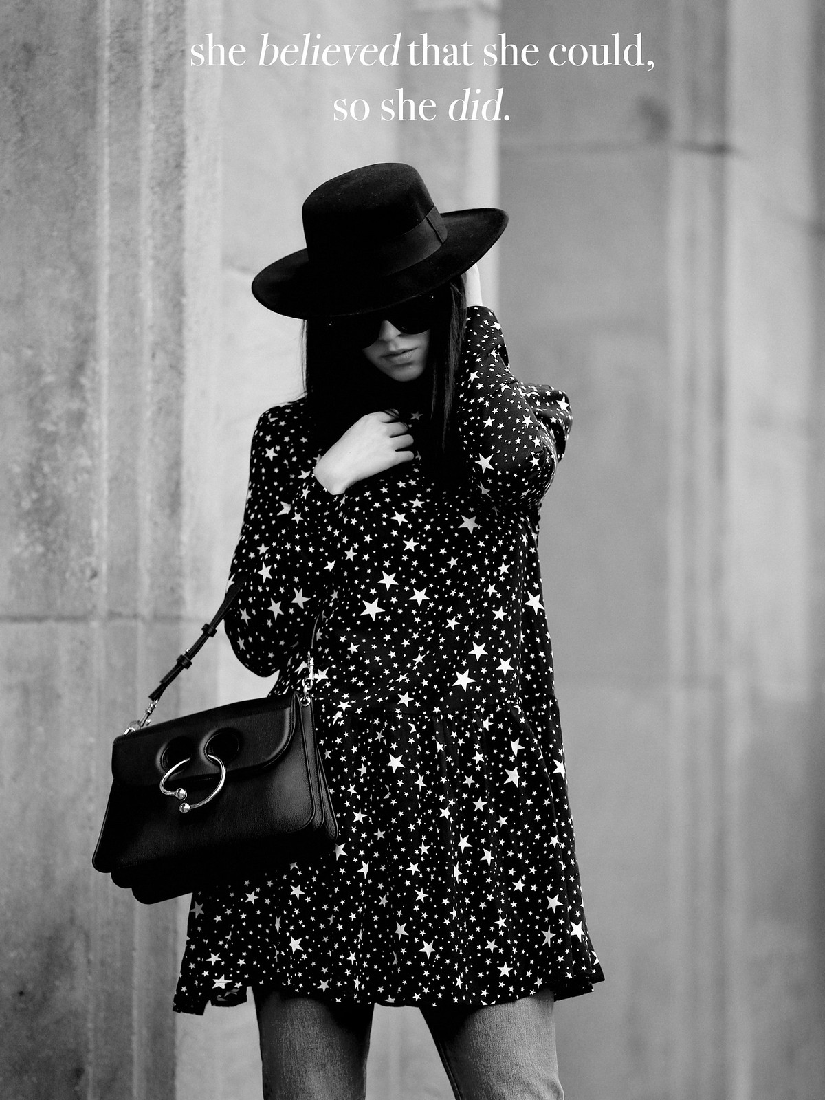 pimkie star dress zorro spanish hat hut kleidchen black allblack piercebag j.w.anderson mytheresa luxury shopping luxe céline audrey sunglasses blogger style fashionblogger germany berlin bloggers cats & dogs düsseldorf modeblog ricarda schernus fashion 6