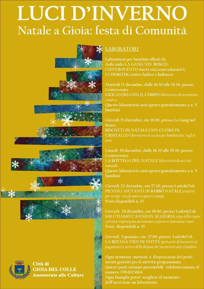 eventi natalizi gioia del colle