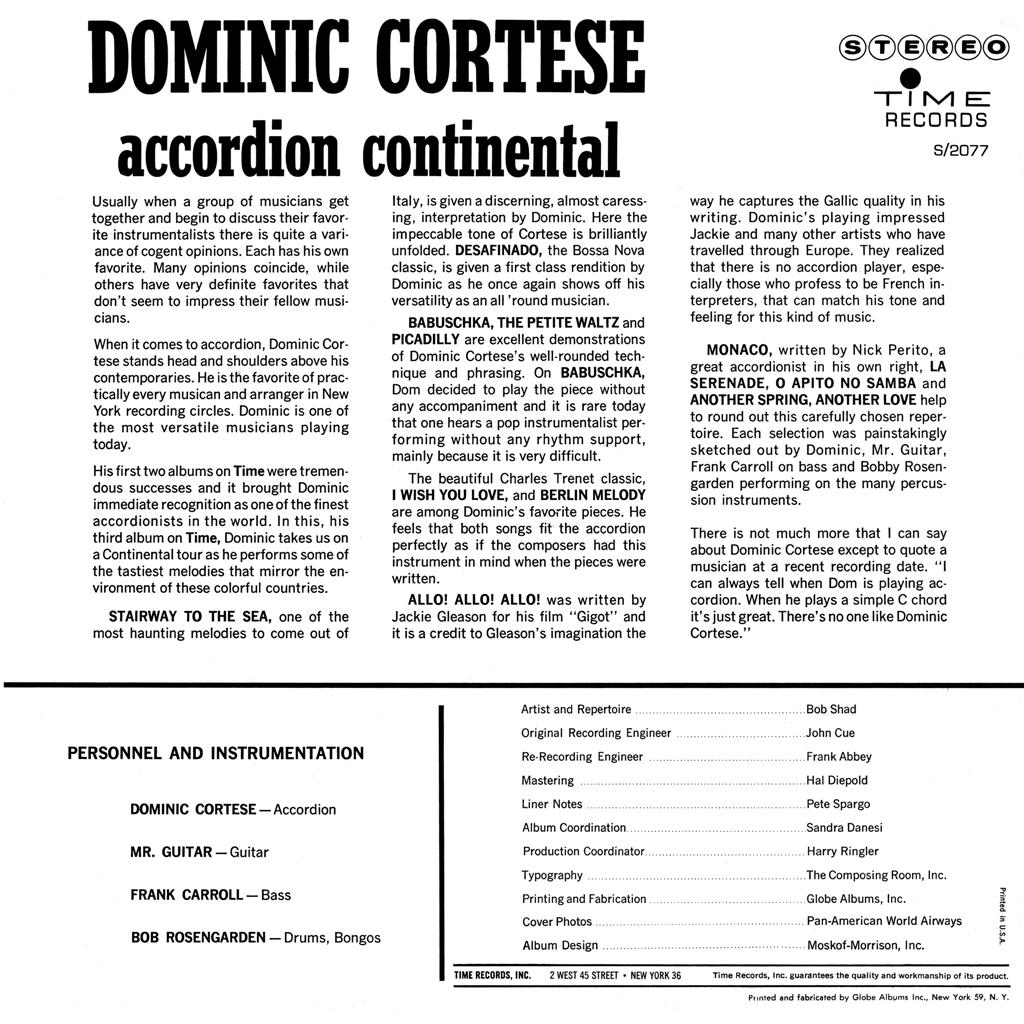 Dominic Cortese - Accordion Continental