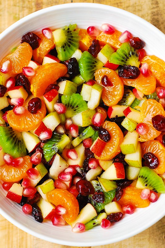 winter fruit salad with maple lime dressing healthy gluten free salad ...