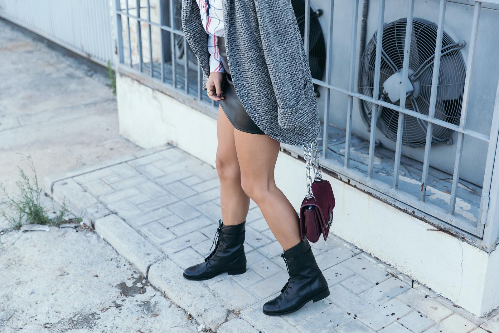 Jessie Chanes Seams for a desire - Black Boots Itshoes Parfois bag faux leather skirt-7