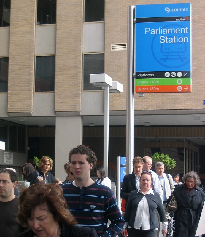 Outside Parliament station, October 2006
