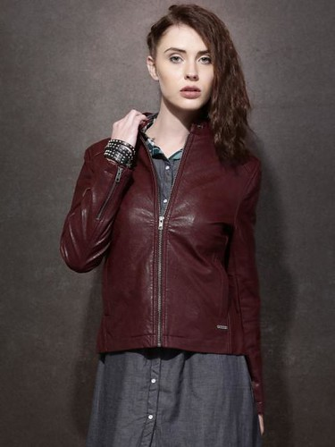 Jacket styles for women - Leather look biker jacket