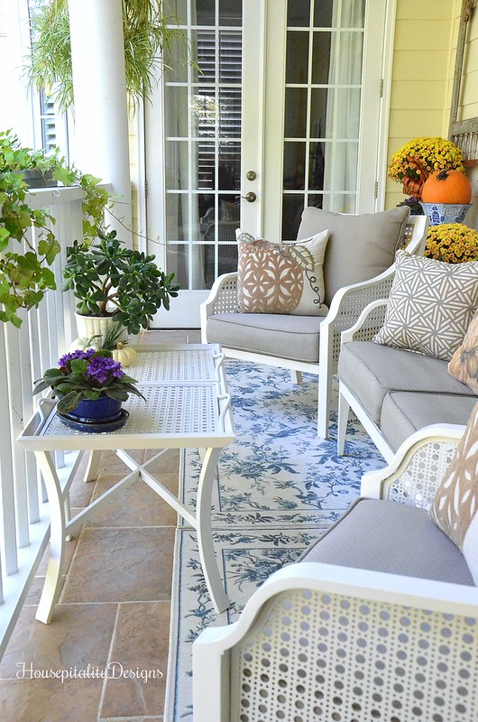 Fall Upper Porch - Housepitality Designs