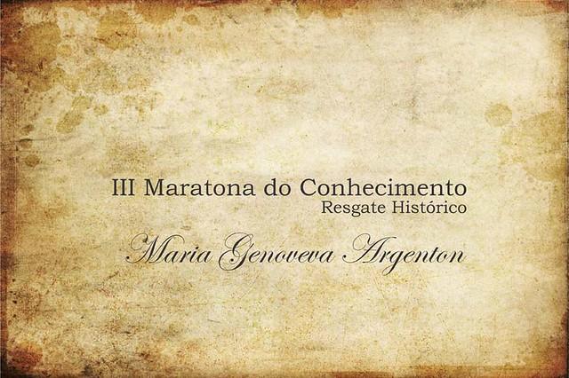 Maratona do Conhecimento - Maria Genoveva