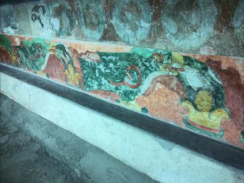 Pintura mural em um dos edifícios de Teutihuacán.