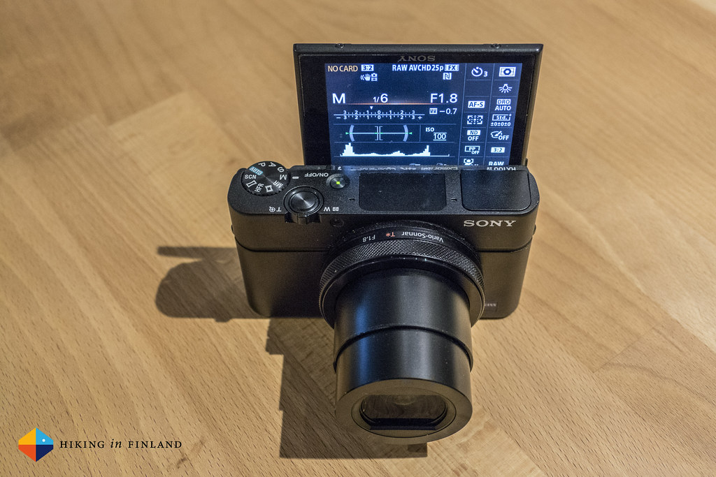 Sony RX100 IV with screen fully up