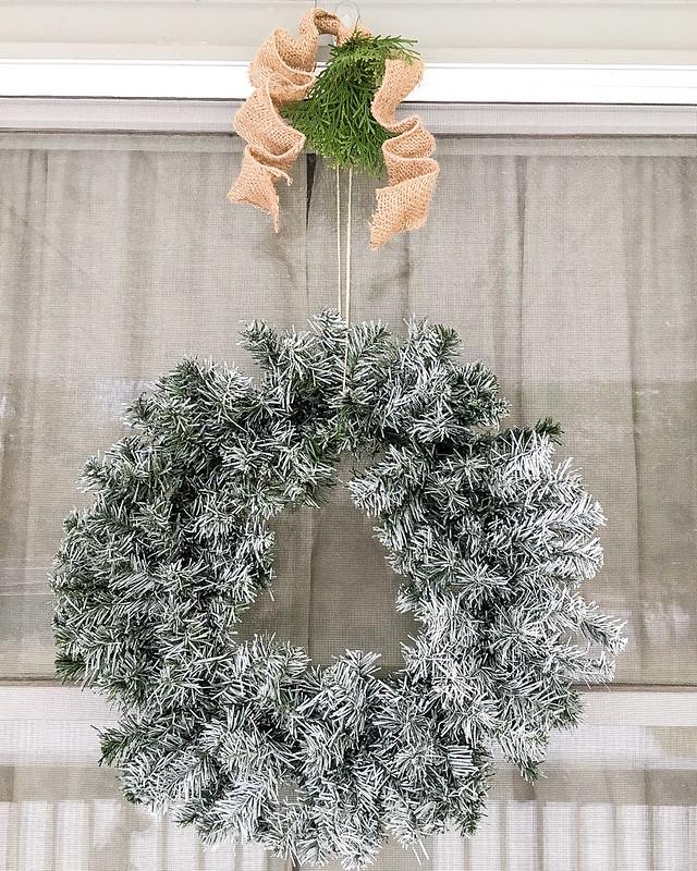 DIY Outdoor Flocked Wreath | www.graceinmyspace.com