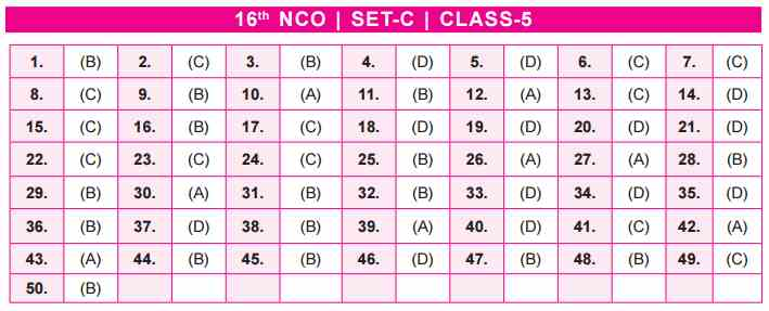 NCO Answer Keys class 5