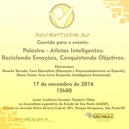 Convite - Palestra Coordenação de Programas para a Juventude