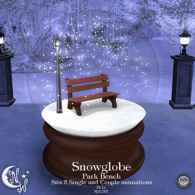 *NW* Snowglobe - Park Bench