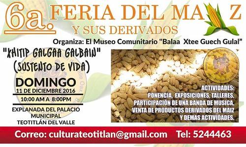 Feria del Maíz @ Teotitlán del Valle 12.2016