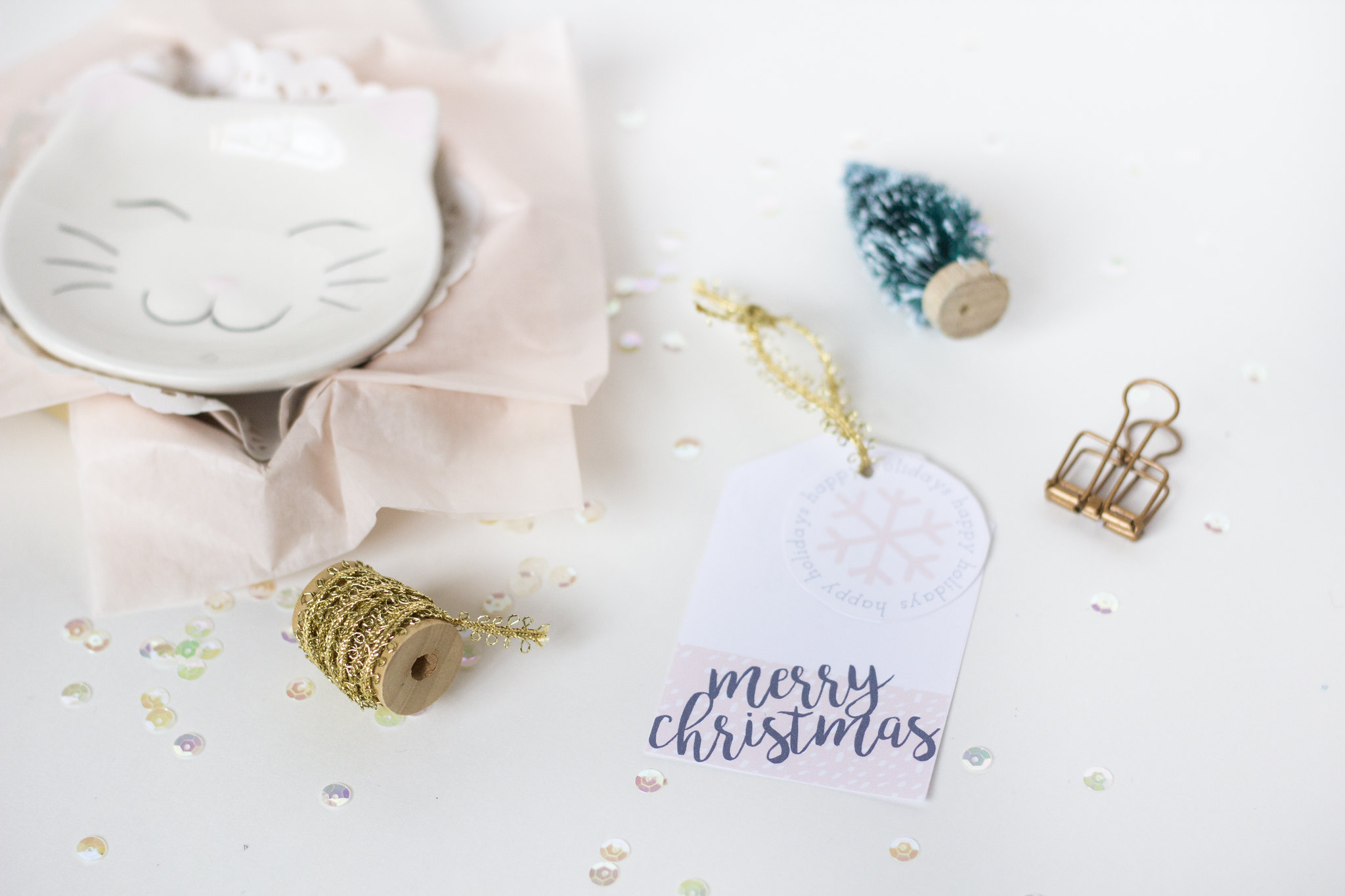 printable blush gift tags