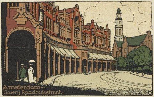 Vue sur la Westerkerk au bout de la Raadhuisstraat à Amsterdam.